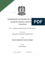 Capítulo 3 - Modelo y Administración de La Capacitación.