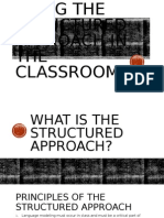 structured approach copy