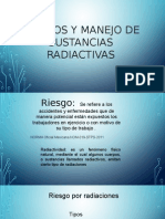 Riesgos y Manejo de Sustancias Radiactivas