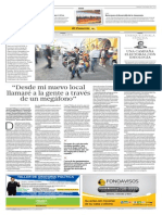 """""""Desde mi nuevo local llamaré a la gente a través de un megáfono"""" - Entrevista a Serapio Villena """"Amarres"""" - El Comercio - 12-04-2014"""