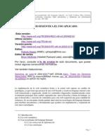 Áreas de Uso de Las Tecnologias de La Web Semantica