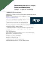 Procedimiento y Pasos a Seguir (en Caso de Accidente)
