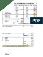 Resumen de Valorizacion Liquidacion Uci PDF