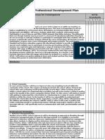 sinead professional development plan