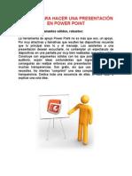 Reglas Para Hacer Una Presentación en Power Point