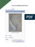 Guerra Contra La Confederación Perú