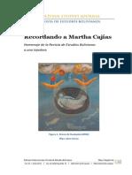 Recordando a Marta Cajias