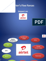 Porter's 5 Forces Model for Airtel