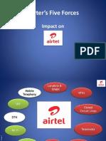 Porter's 5 Forces Model for Airtel