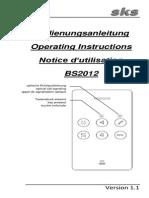 2-BS2012 Bedienungsanleitung de en FR r1.1
