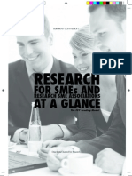 Research for SMEs and research SME association at a glance
