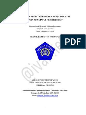 Contoh Laporan Prakerin Jurusan Tkj Tentang Printer Kumpulan Contoh Laporan