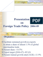 Foreign Trade Policy F - 2004-09