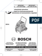 Bosch Appliances 3931A Vacuum Cleaner User Manual
