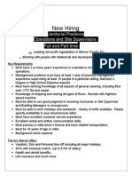 Janitorial - Ops and Site Supervisors