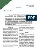 In vitro fluoride toxicity in human spermatozoa - Reproductive Toxicology, Vol. 8, No. 2, pp. 155-159, 1994.pdf