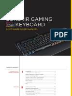 Corsair Gaming RGB Keyboards Software User Manual