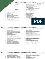 Power Market Research Criteria