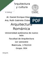Arquitectura y Cultura romanica