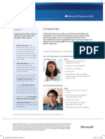 Limited USER ERP2013 DynamicsNAV Factsheet