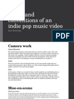 Codes and Conventions of an Indie Pop Music
