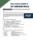 Preparatory Course Module a - Final Test Language Skills - s
