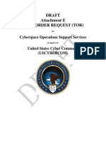 Uscybercom Draft Support Contract Attachment