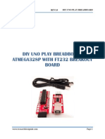 DIY UNO PLAY BREADBOARD ATMEGA328P WITH FT232 BREAKOUT BOARD