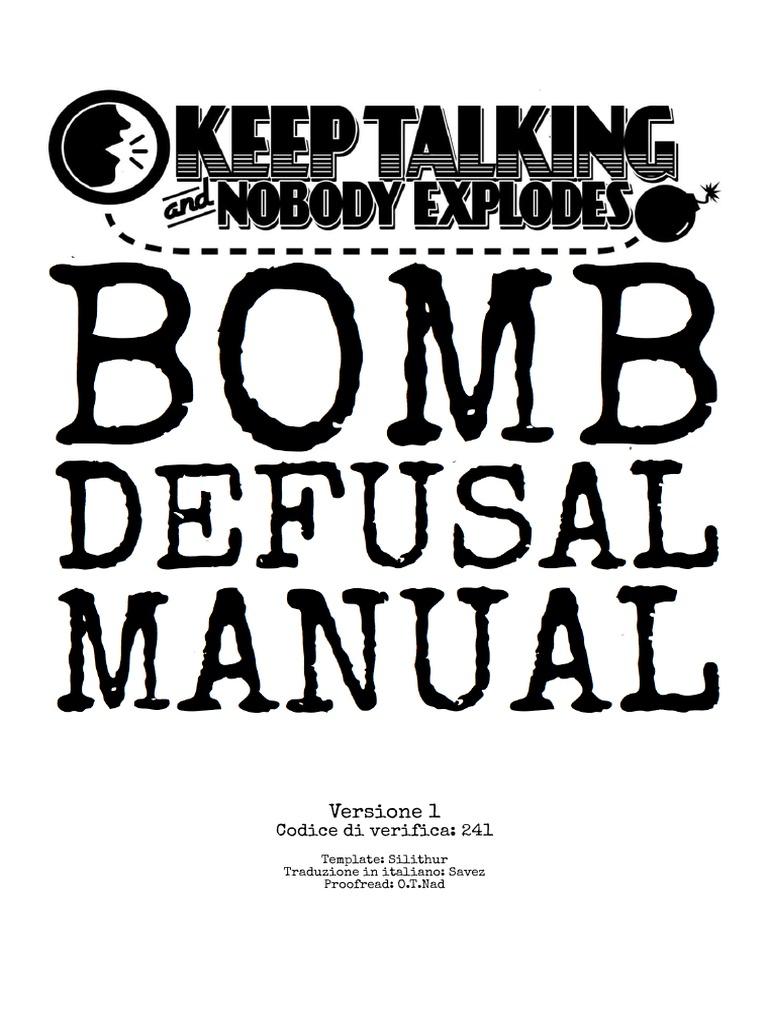 Bomb Defusal Manual 1[ITA]