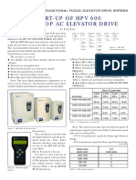 Startup of Hpv 600 Openloop Ac Elevator Drive