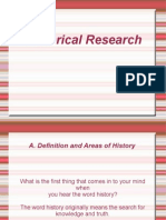 Historical Research Report 111111