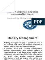 Mobility Management in Wireless Communication System