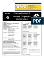 Pittsburgh Steelers At San Diego Chargers (Oct. 12)
