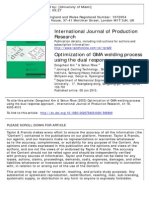 International Journal of Production Research Volume 41 Issue 18 2003 [Doi 10.1080%2F0020754031000%2F595800] Kim, Dongcheol; Rhee, Sehun -- Optimization of GMA Welding Process Using the Du