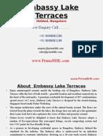 Embassy Lake Terraces, Hebbal, Bangalore