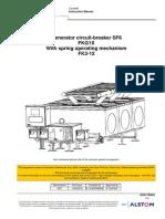 I, O, M Manual for FKG1X Alstom GCB