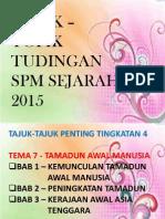 Topik Tudingan Sejarah 2015