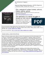 The Spatiality of a Social Stru - Mantanika, Reggina