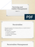 Factoring and Receivables Management