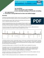 Crossrail Media Briefing Note-End of Crossrail Tunnelling 4 June 2015
