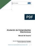Manual Anulacion de Comprobantes Electronicos 23-04-2015