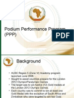 Podium Performance Plan - Regional Coaches Confrence