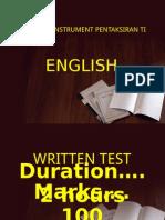 2.Written Test PT3