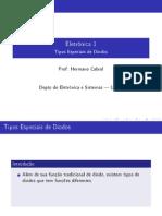 Tipos Especiais de Diodos.