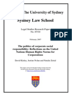 SSRN-id962981 the Politics of Corporate Social Responsibility Reflections on the United Nations Human Rights Norms for Corporations