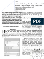 Penggunaan Metode Geolistrik Dengan Konfigurasi Wenner Untuk Identifikasi Persebaran Dangkal Dengan Study Kasus Lahan Depan Lapangan Pertamina ITS