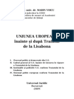 Rasfoire Uniunea Europeana Inainte Si Dupa Tratatul de La Lisabona