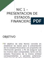 Nic1 Presentacion de Estados Financieros