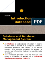 Lecture - 01 Introduction to Databases