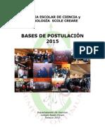Bases de Postulacion a La v Feria de Ciencia y Tecnologia Scole Creare 2015
